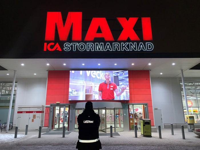 Maxi ICA Stormarknad i Katrineholm väljer LEDtec